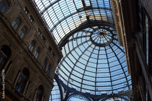 Glass roof in the Galleria Umbertoi