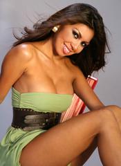 Happy Latina Woman