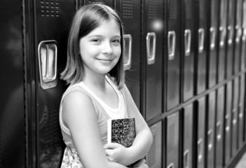 Beautiful School Girl BW