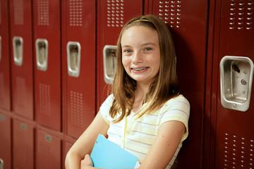 Cute Teen Girl by Lockers