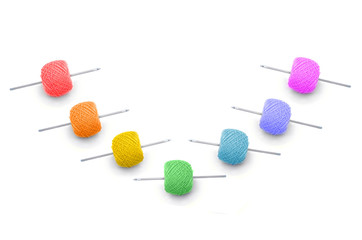 colour ball of the threads