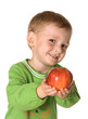 The kid with an apple(4)