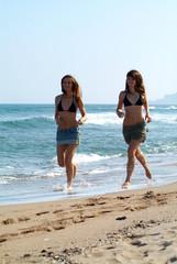 Courant sur  la plage