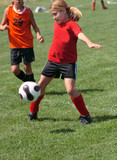 Youth Soccer or Football Player in Action 9 poster