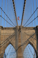 Brooklin bridge,flag