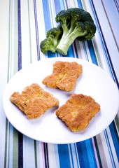 Soya cutlets & Broccoli