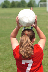 Youth Teen Ready to Throw Soccer Ball