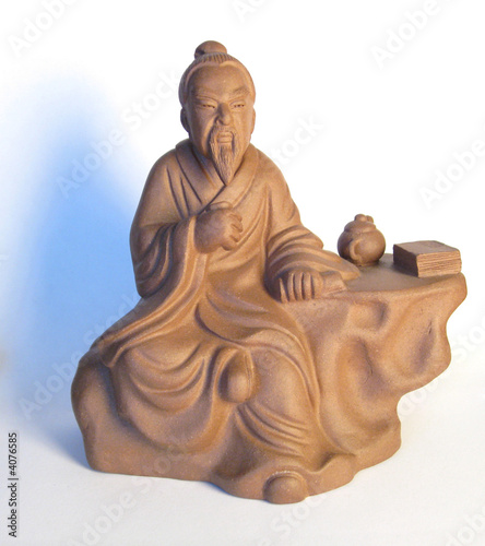 Figuline of china oldman with a teapot