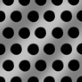 Aluminum Holes Background poster