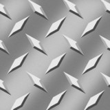 Aluminum Diamonds Background