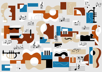 Musical and theatre abstract background