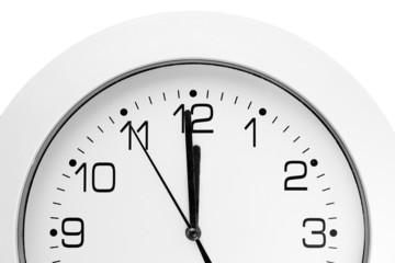 wall clock. twelve..