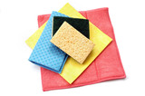 cleaning rags and sponges  poster