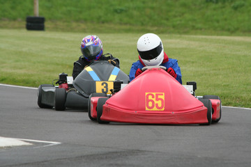 Two racing endurance karts