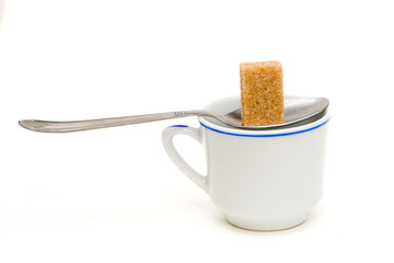 brown sugar spoon and cup