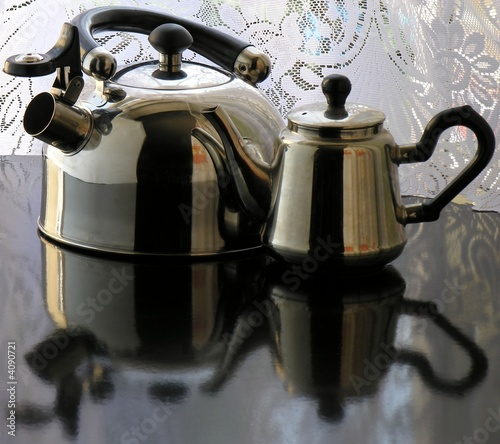 kettle and tea-pot