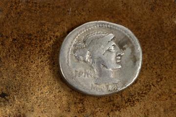 Roman Silver Denarius Coin 89 BC
