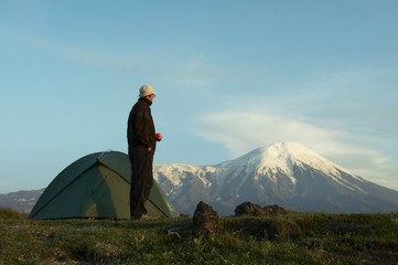 Hike in Kamchatka