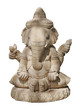 Statue de Shiva sur fond blanc