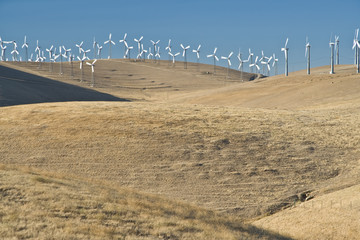 windfarm on hills