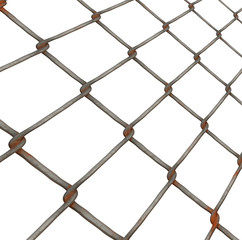 Illustration of metal fencing material