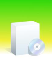 Boite de logiciel vert