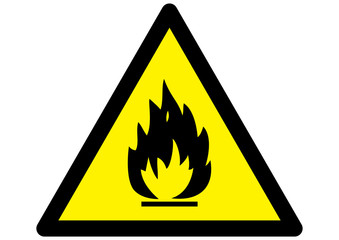 Fire Hazard Warning Sign