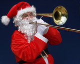 Santa says lets have a blow this christmas