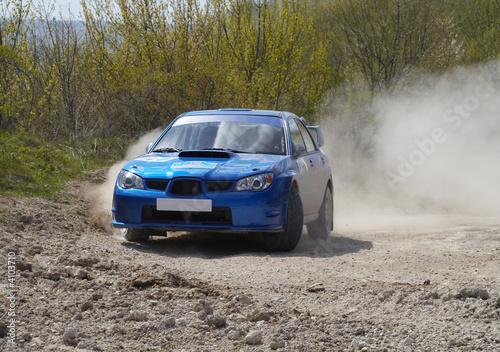 Foto op Canvas Snelle auto s Rallye