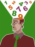 number brain poster