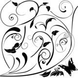 Floral elements E - popular floral segments poster