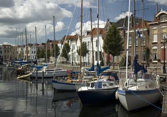Idyllic Dutch Port