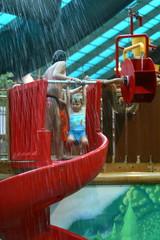girl in waterpark