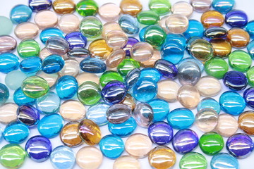 bright and colorful gem stones on white