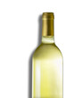 Botella vino blanco isolada.