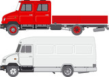 Vector delivery/cargo truck ZIL-5301 poster