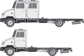 Vector base-chassis delivery/cargo truck ZIL-5301