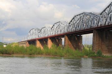 Railroad bridge through the Ob' 2