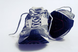 Pair of sports trainers sneakers poster