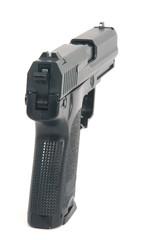 Die Pistole zielt auf freies Textfeld