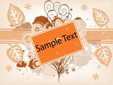 Orange Leaf copyspace poster