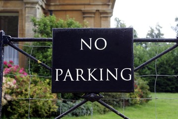 sign. no parking