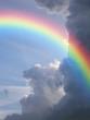 Leinwanddruck Bild rainbow clouds