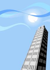 skyline wolkenkratzer stadt