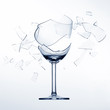 Splintering wine glas