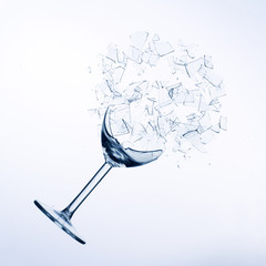 fallen wine glass