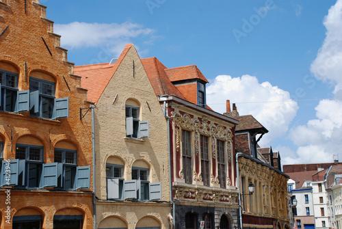 Leinwanddruck Bild Historical Buildings in the city of Lille (france)