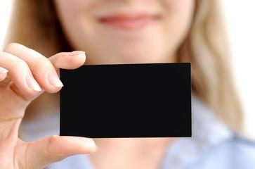 biglietto da visita nera