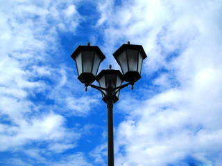 street lamp on background sky