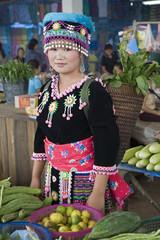 Hmongfrau in Laos